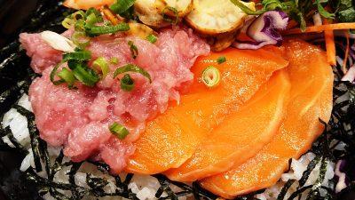 4色の彩り海鮮ごはん(ネギトロ・サーモン)|ガスト 下平間店