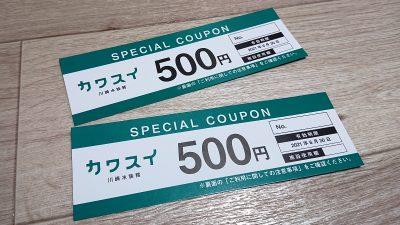 リカバリーチケット(500円券×2枚)|カワスイ(川崎水族館)