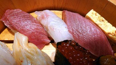 中トロ・真鯛・マグロ赤身|板前が握る寿司 ななつぼ 鹿島田店