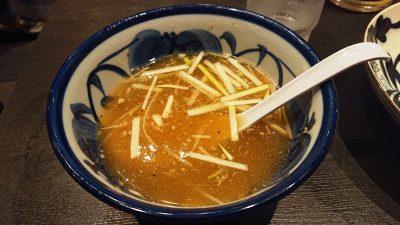 スープ割後|田中そば店 蒲田店