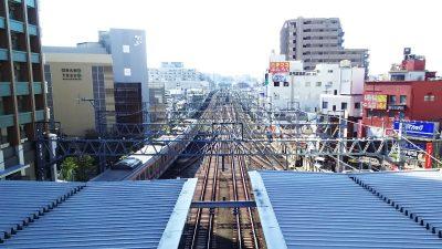 展望デッキからの眺め 武蔵小杉東急スクエア