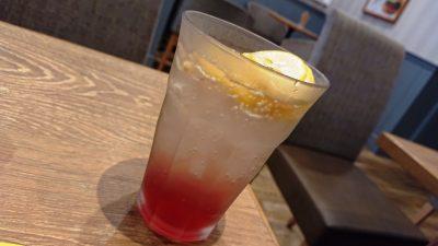 レモン&クランベリーソーダ フレッシュネスバーガー 新川崎スクエア店