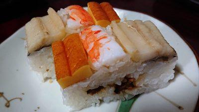 海老と穴子の押し寿司|ちよだ鮨 鹿島田店