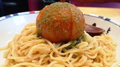 冷やしまるごとトマトつけ麺(横から) 七志らーめん 鹿島田店
