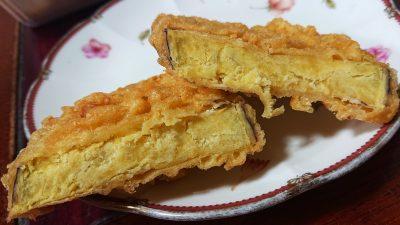 さつまいも天(断面)|丸亀製麺 武蔵小杉店