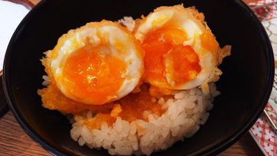ご飯に半熟卵の天ぷら|博多天ぷら やまみ JR川崎タワー店