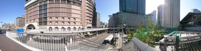 大阪梅田のパノラマ写真